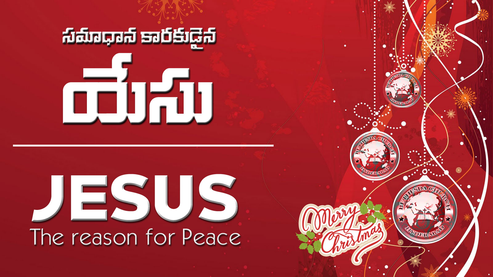 Jesus – the reason for peace (A228)